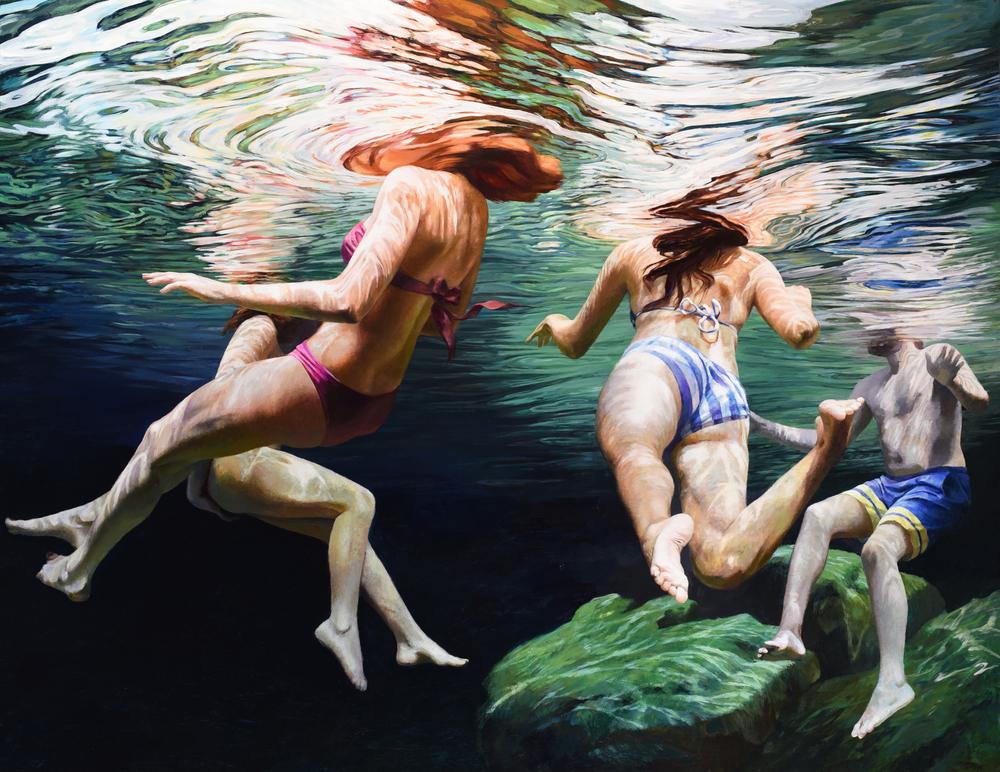 """Cenote Azul #14, 54"""" x 70"""""""
