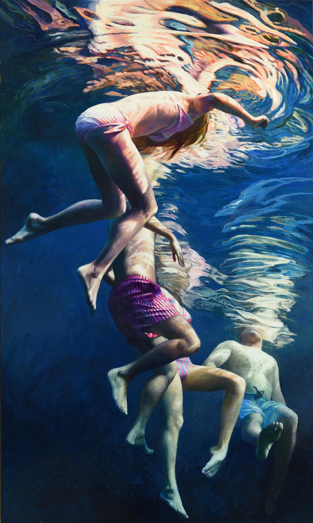"""""""Cenote Azul #31"""", 2018, 60"""" x 36"""", acrylic on linen"""