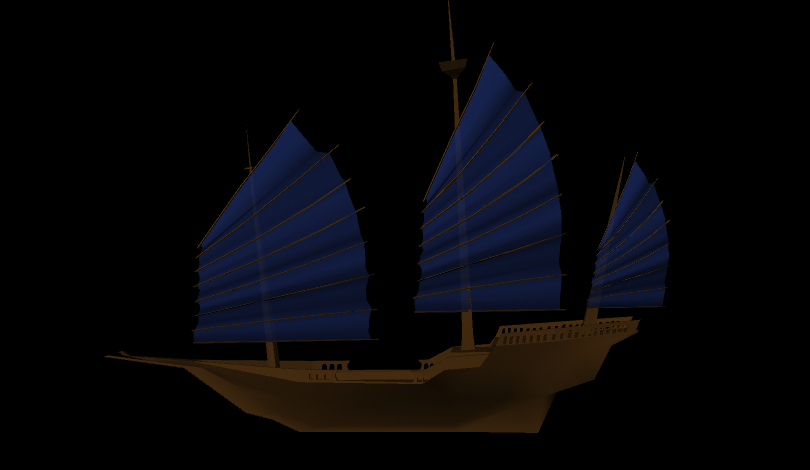 The ship before I moved it to populate the dome environment.