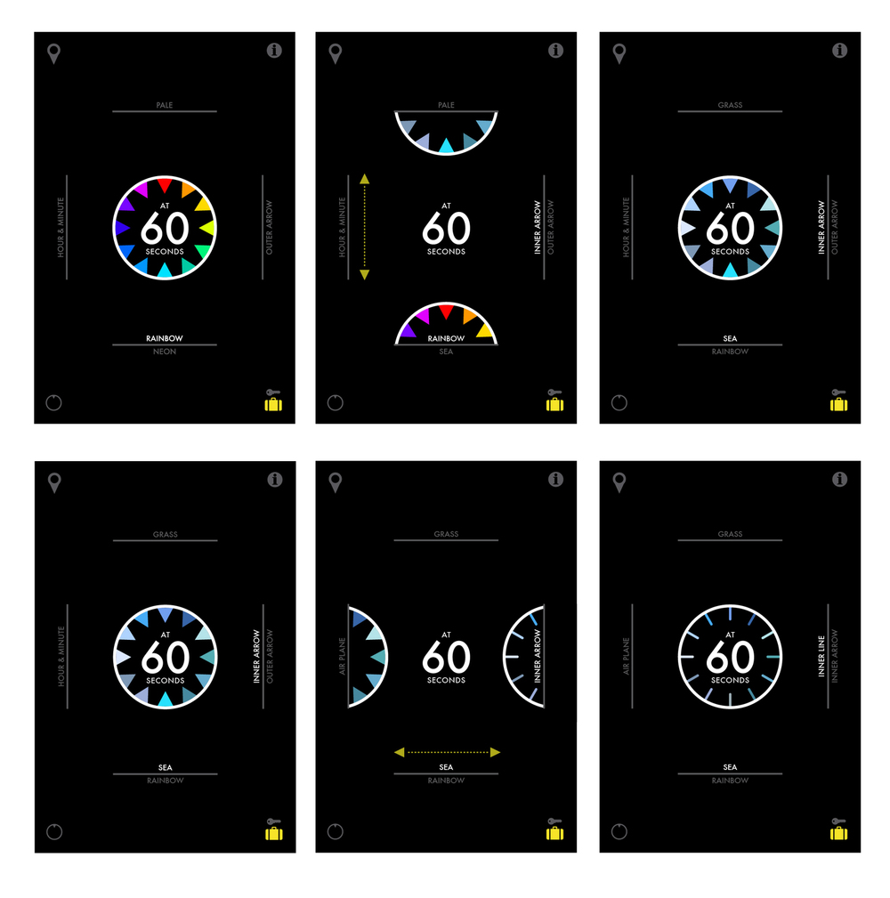 Users can change the style and color of the clock.