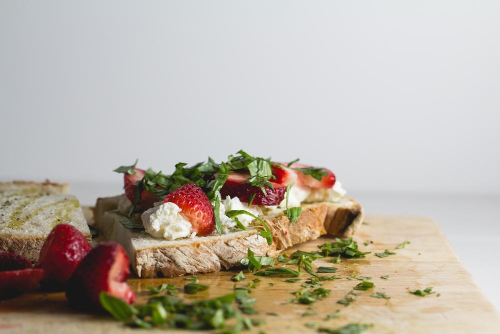 Strawberry, Basil + Goat Cheese Panini — Coffee + Crumbs