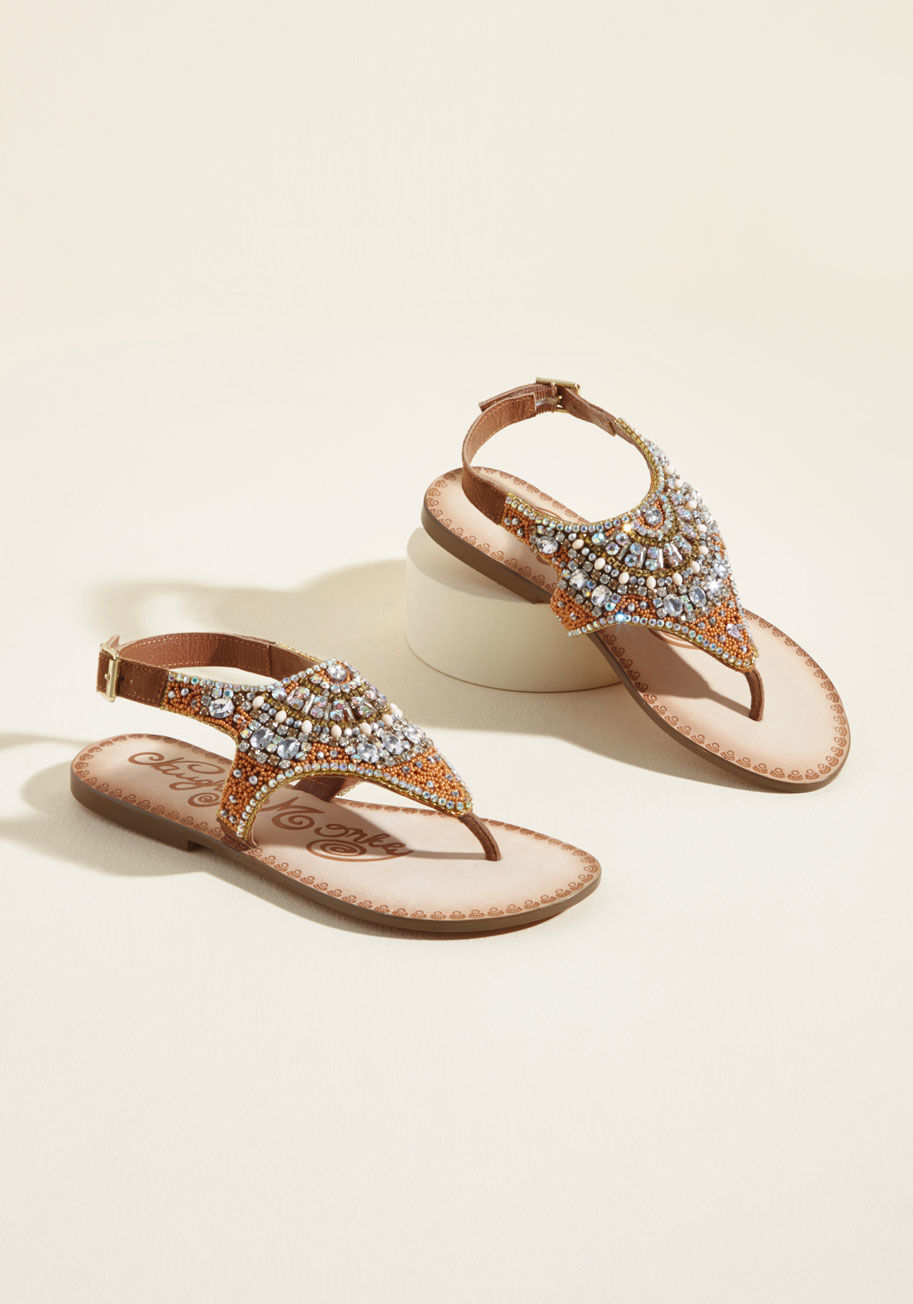 Indiana: jeweled sandals