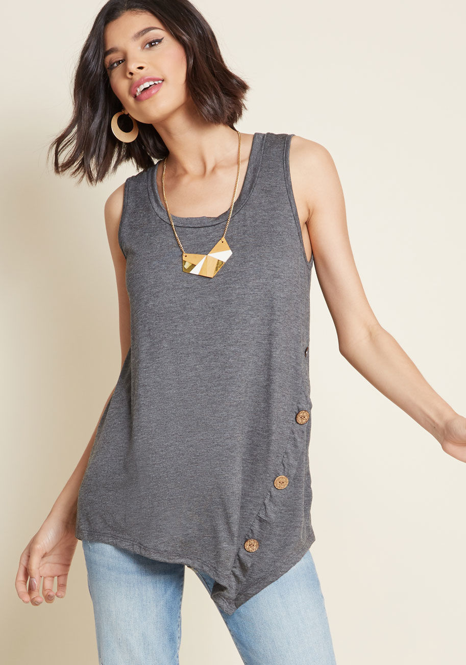 Ashlee: side button tank
