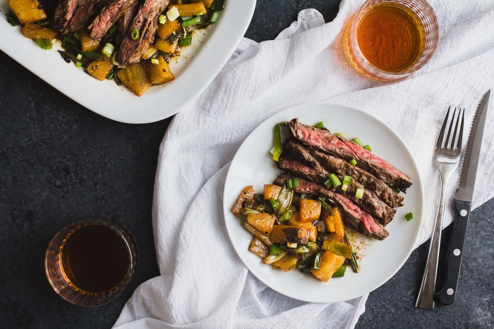 Marinated Skirt Steak with Pineapple + Green Onions _ Sarah J. Hauser-11.jpg