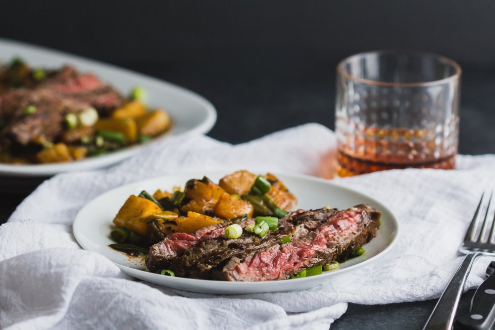 Marinated Skirt Steak with Pineapple + Green Onions _ Sarah J. Hauser-13.jpg
