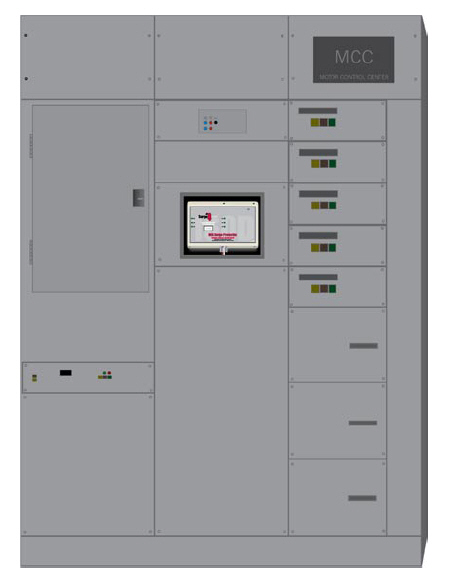 Shown above is a PT160 Delta protecting a motor control center. Often installed behind a clear panel, the protector's status LEDs (and optional surge event counter) can be easily viewed without having to open an access door. With redundancy and high headroom thermally protected varistors, the PT160 Delta offers reliability, performance, and safety in a compact package that is easy to install within motor control centers as well as other equipment.