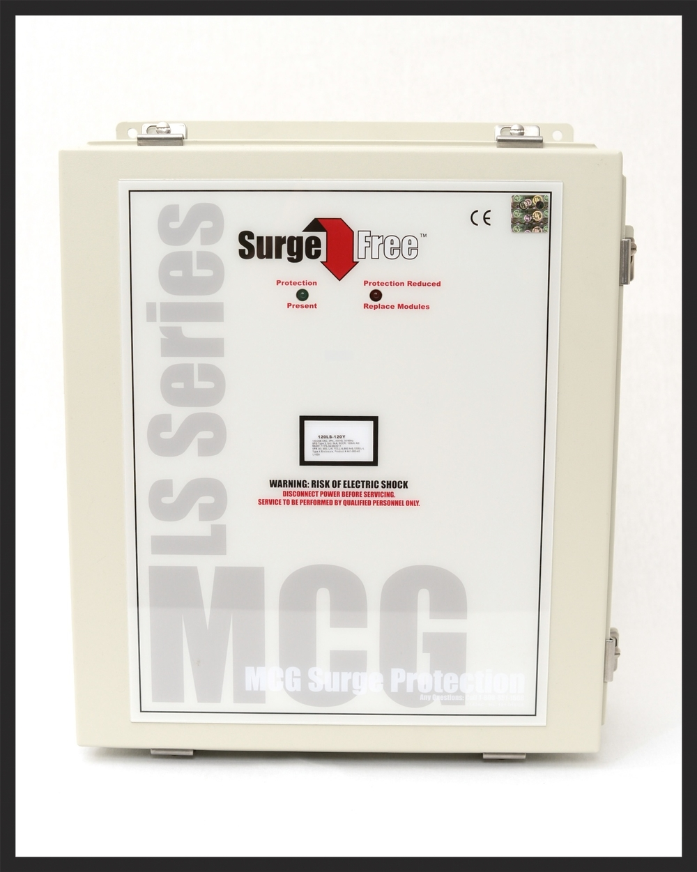 Options Available: Internal Disconnect • Upgradeable Diagnostics: Surge Event Counter, Beeper, & Status Relay (1 Form C Contacts) • NEMA 4X Enclosure • Low Impedance Micro-Z cable, flush-mount kit    (Click here)