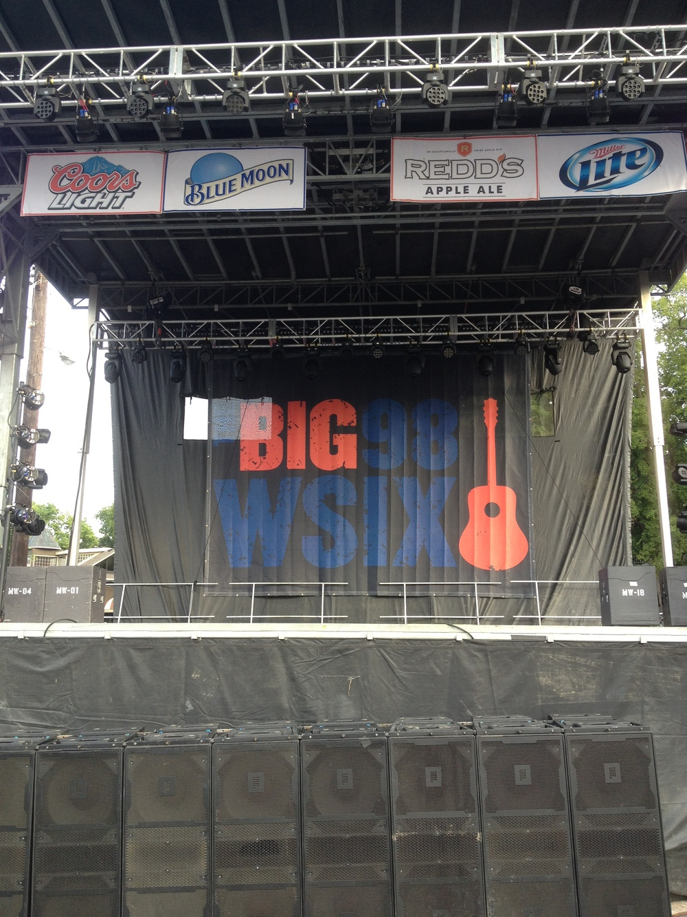 Big 98 WSIX Stage Scrim