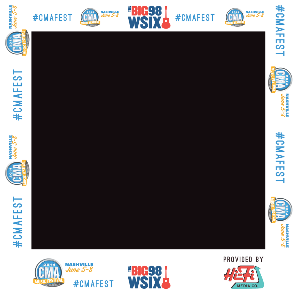 98 WSIX/CMA Music Festival Photo Frame Cutouts