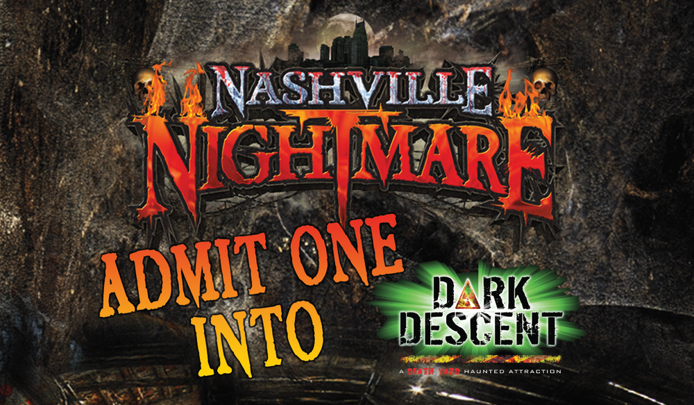 Nashville Nightmare Ticket Sample