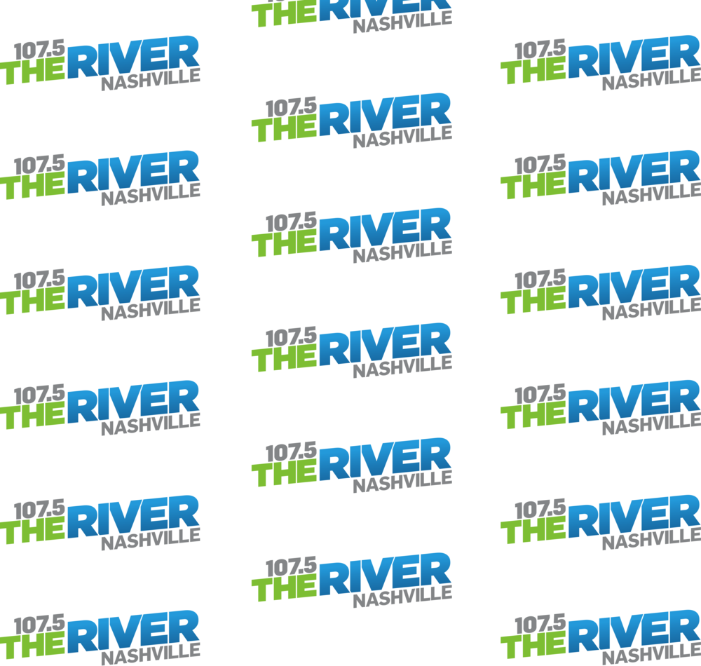 107.5 The River Step and Repeat Banner