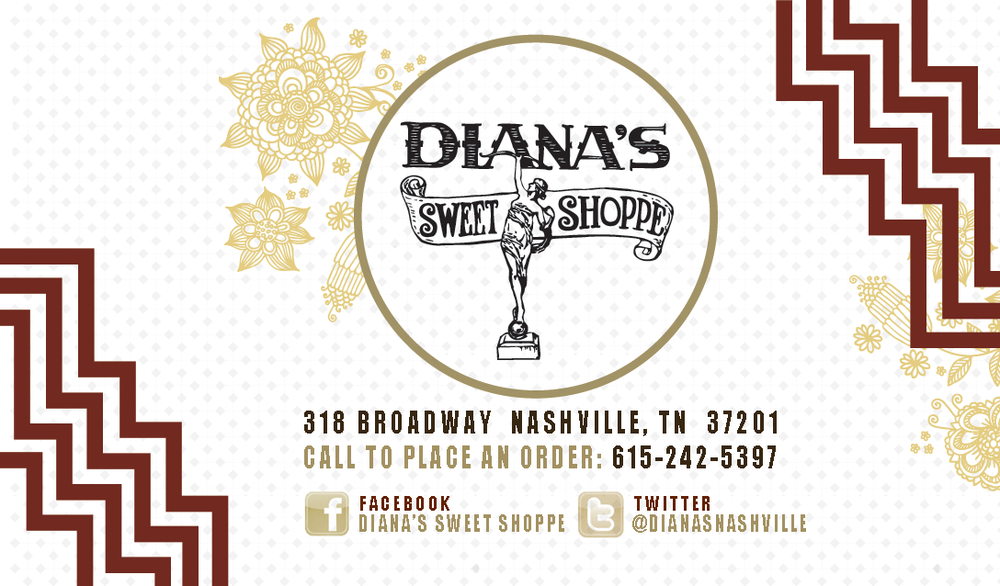 Diana's Sweet Shoppe Loyalty Punch Cards