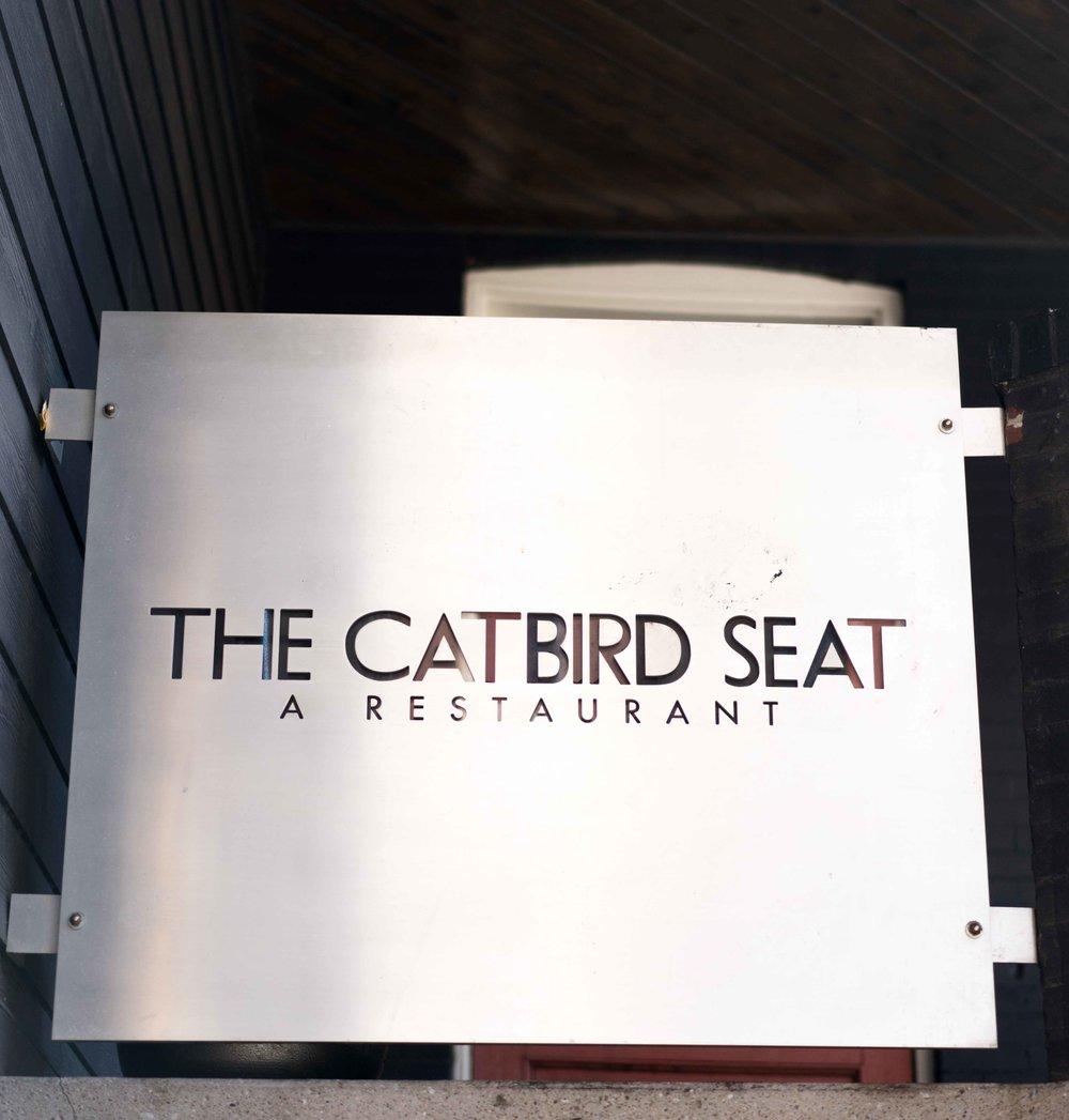 Catbird Seat Signage