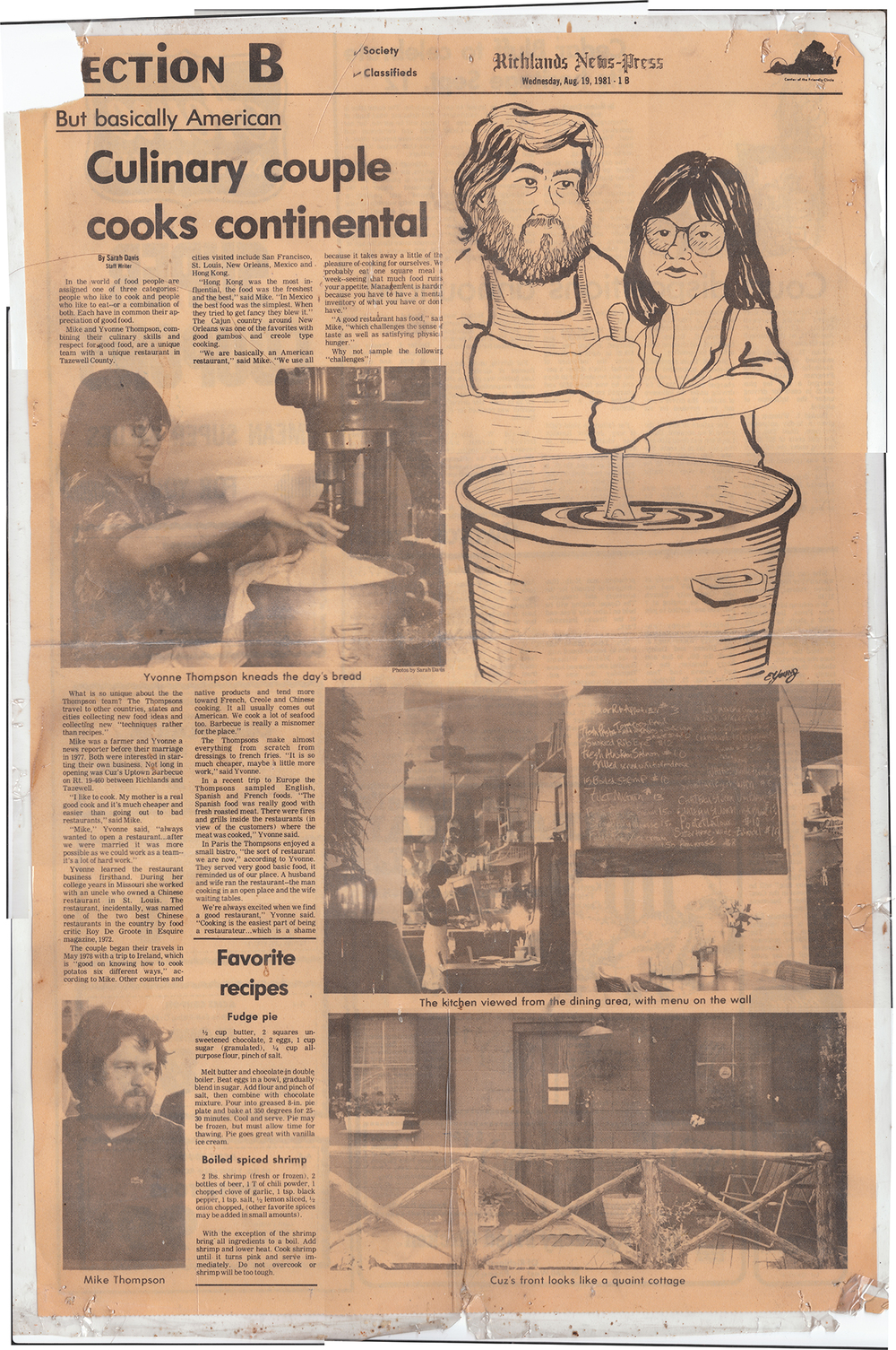 Cuz's Clips - Richlands News Press - 1981