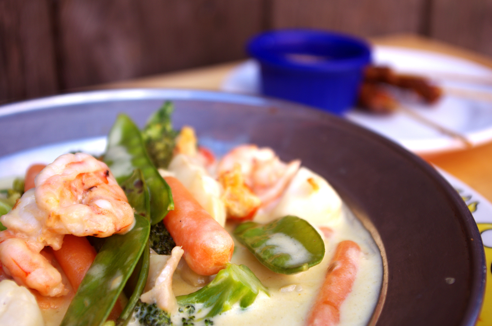 Thai seafood curry.