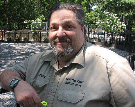 Harry Greenberg, Manager (and heart & soul) of Tompkins Square Park