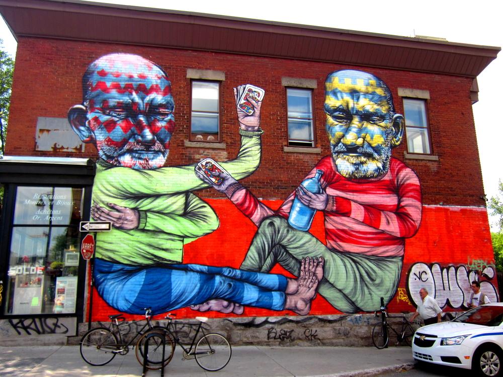 Mural by Jaime Rojo & Steven Harrington One of many murals found on Saint-Laurent Boulevard