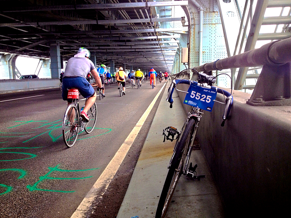 Riding the Verrazano during this year's TD Five Boro Bike Tour.