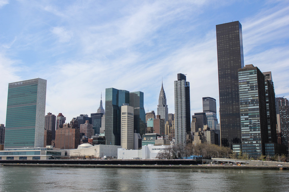 View of the Midtown Skyline from Roosevelt Island