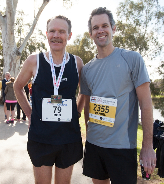 With Adelaide Running Legend Rob Robinson after Adelaide Marathon Festival