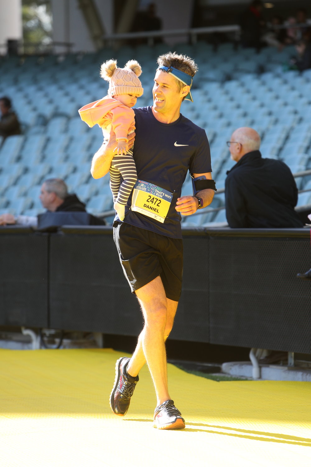 Adelaide Half Marathon 2017 at finish line with daughter, Holly