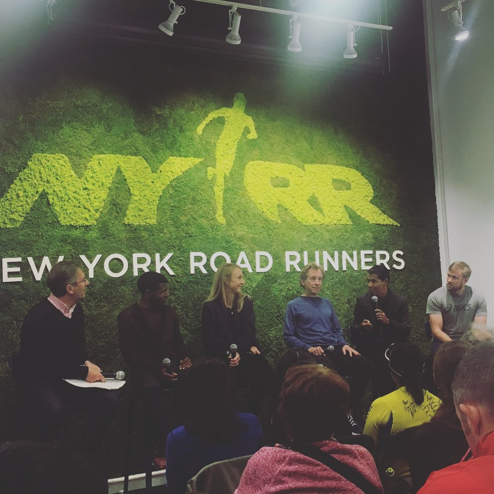 Running Royalty...from left Haile Gebrselassie, Paula Radcliffe, Bill Rodgers, German Silva and Ryan Hall