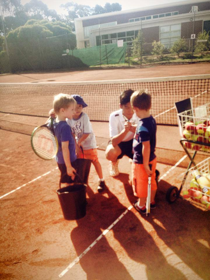 Our legendary tennis coaches teaching our star players!
