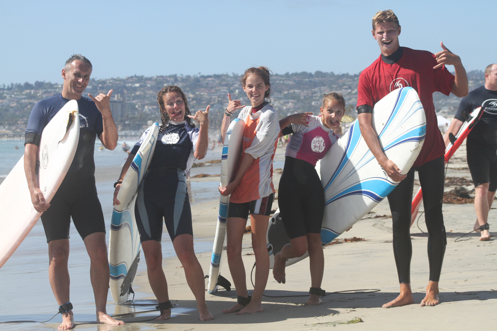 Group Surf Lessons  (4 or 5 people)