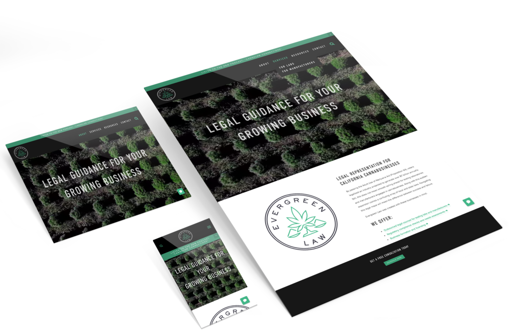 Evergreen Law Website Redesign