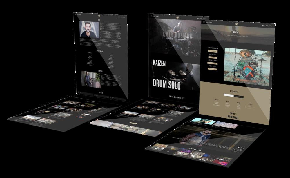 Amir Oosman Website Design Project