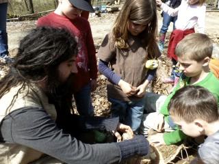 Dan teaching kids during outdoor activities