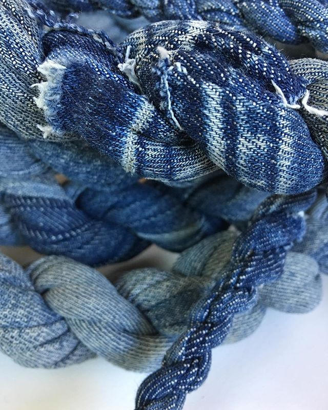 Twisted denim rope.