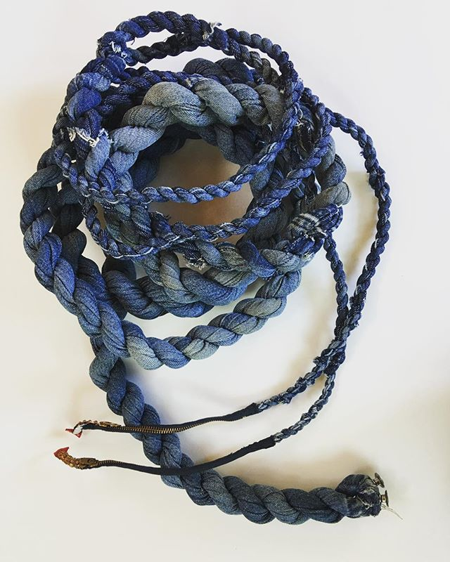 Dad's Levi's 2018 #levis #rope #zerowaste #art #artist #denim #mfa #reuse #cotton