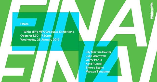 Final MFA graduate show. If you are in Auckland please go check it out!  @whitecliffe_life