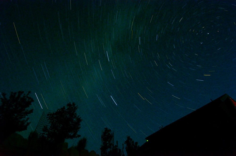 Thirty minute exposure pointed at the North Star.