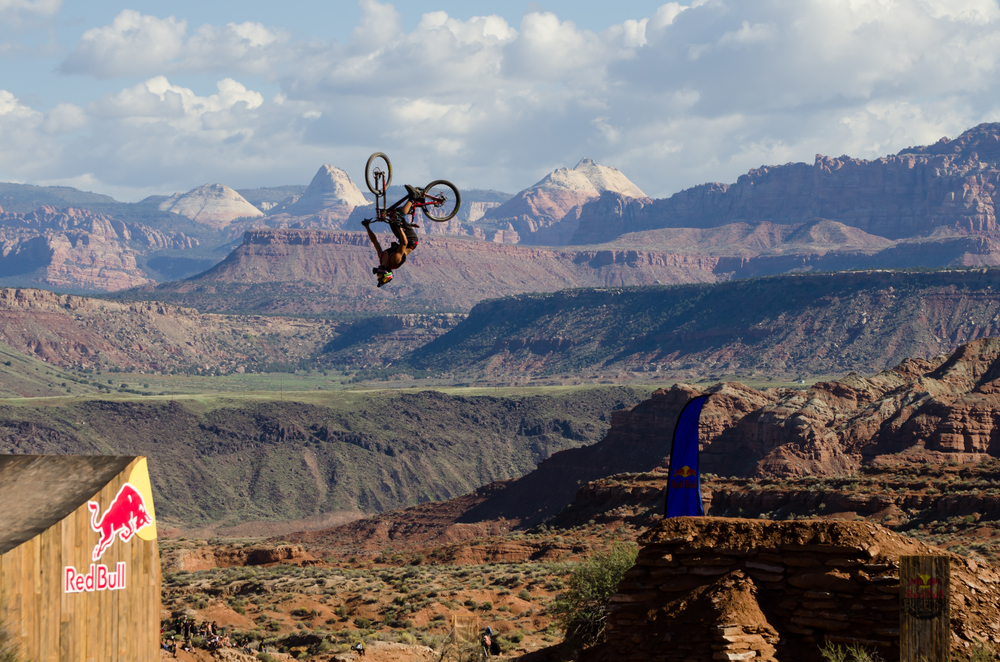 Szymon Godziek has his backflip dialed on the 73' canyon gap