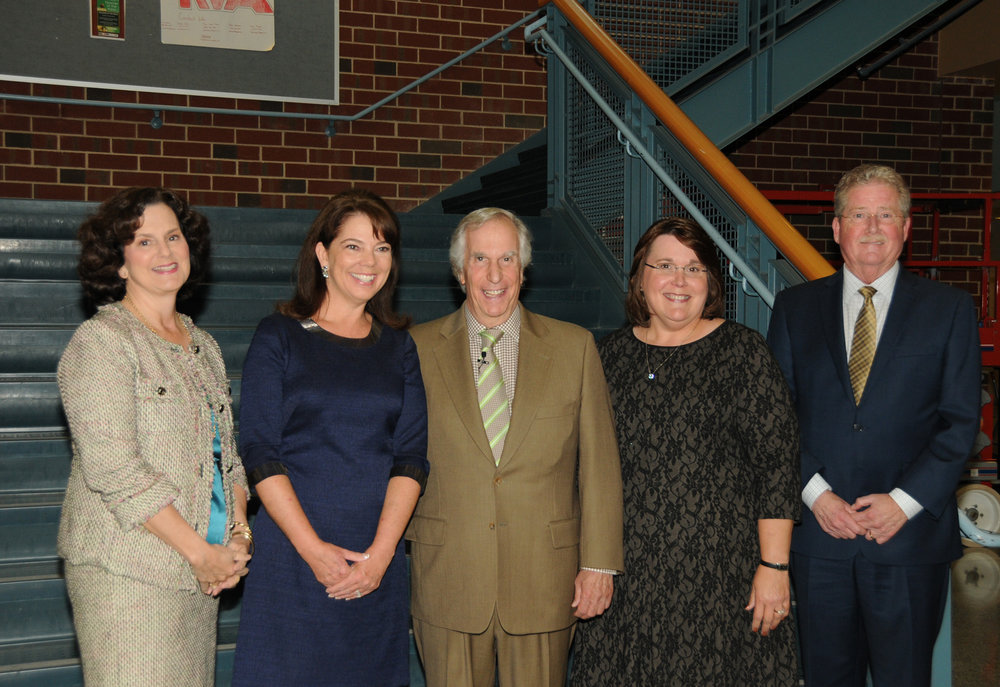 The Henrico education Foundation invited Henry Winkler to work with students and to speak at a fundraiser gala. The HCPS Board was delighted to meet with him.