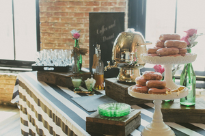 Browse black and white bridal shower theme ideas event 29 you can do this a coffee donut bar bridal shower junglespirit Image collections
