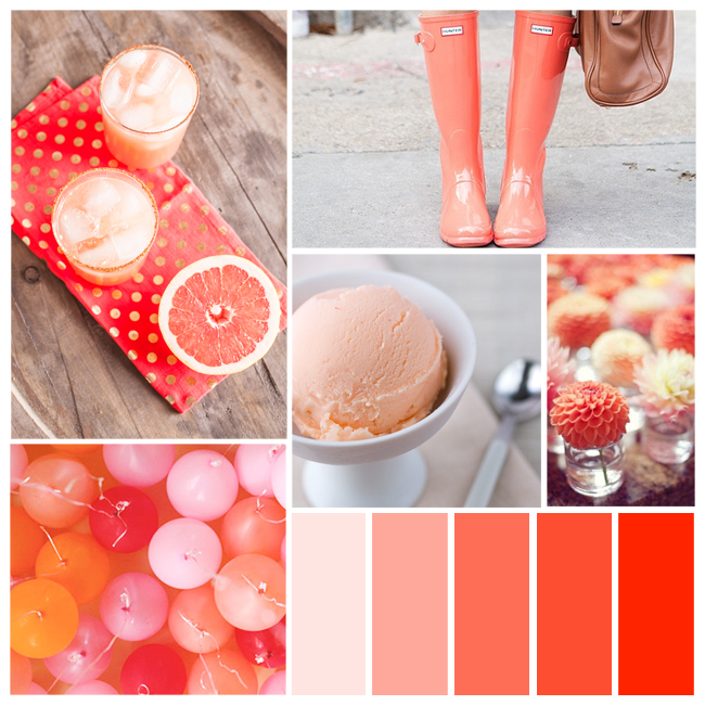 spicy grapefruit and other pretty party palettes on Showerbelle
