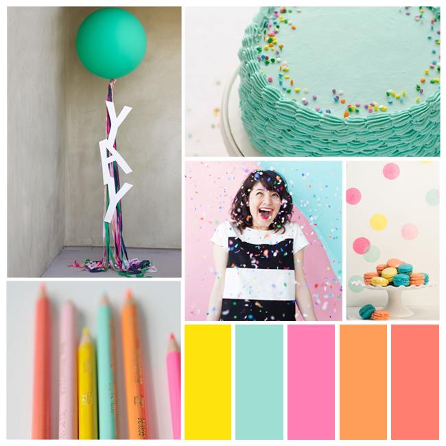 confetti color palette plus more fun party palettes on Showerbelle