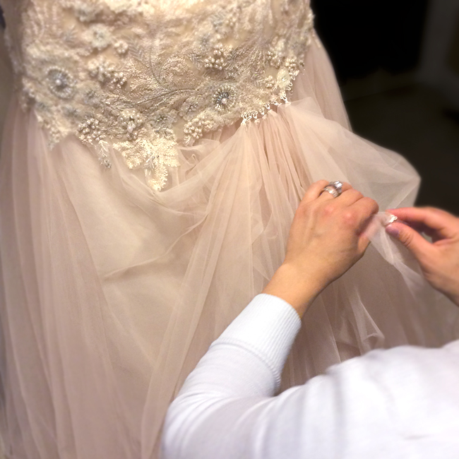 Everyday i39m bustlin39 how to bustle a wedding dress for How to make a wedding dress