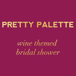 wine themed bridal shower color palette via Showerbelle