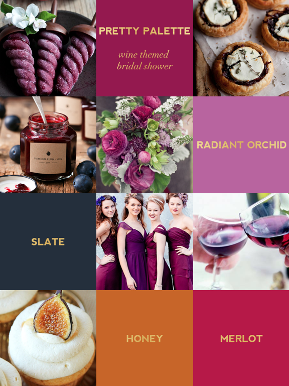 pretty palette: wine themed bridal shower guide on Showerbelle