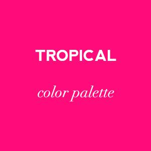 tropical color palette on Showerbelle