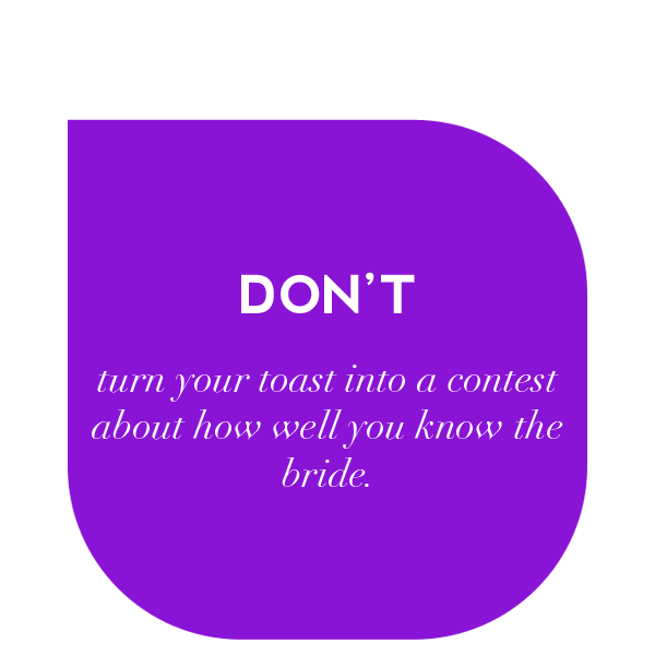 Giving a maid of honor toast doesn't have to be scary. Read these do's and don'ts on how to write a maid of honor speech that isn't completely awkward. #maidofhonor #speech #toast #MOH