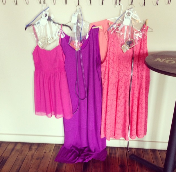 Shoot wardrobe in lots of radiant colors for summer