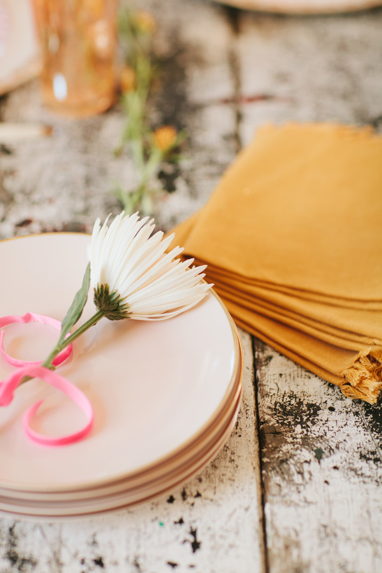 adorable vintage bridal shower in blush and peach on Showerbelle
