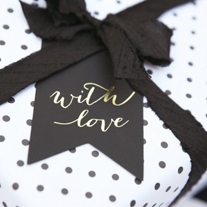 black and white bridal shower ideas