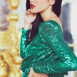 glam emerald green color palette