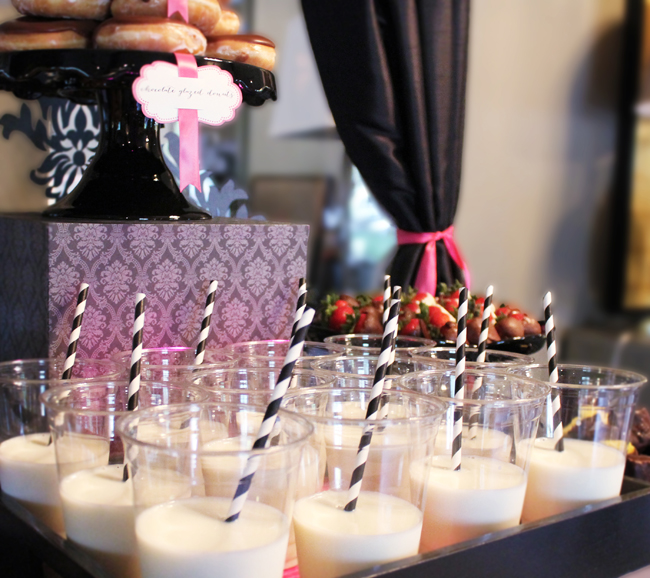 a milk and donuts glam rock n' roll bridal shower on Showerbelle